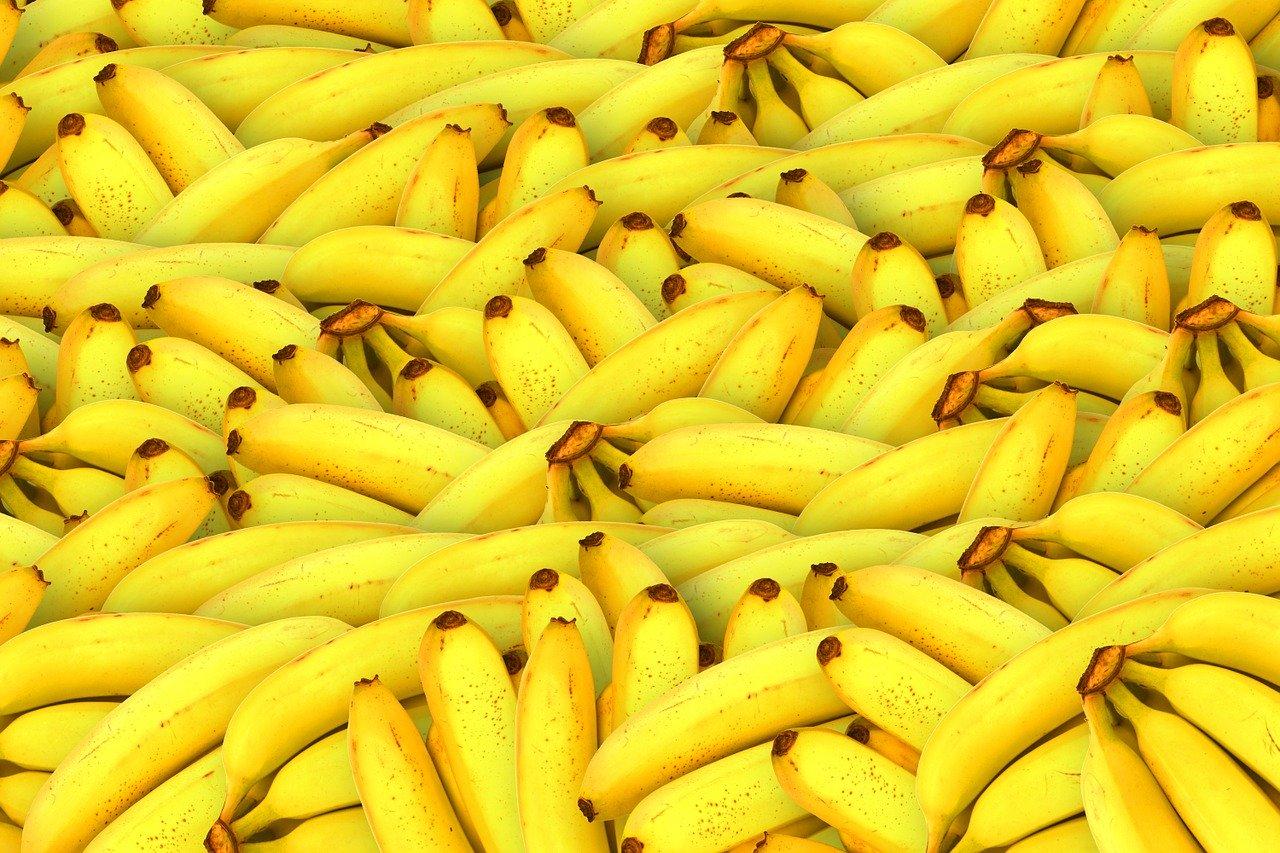 Banane, gedörrt Essen und Trinken Früchte