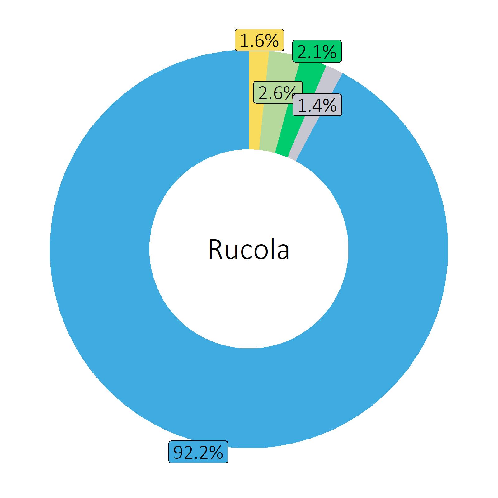 Bestandteile Rucola