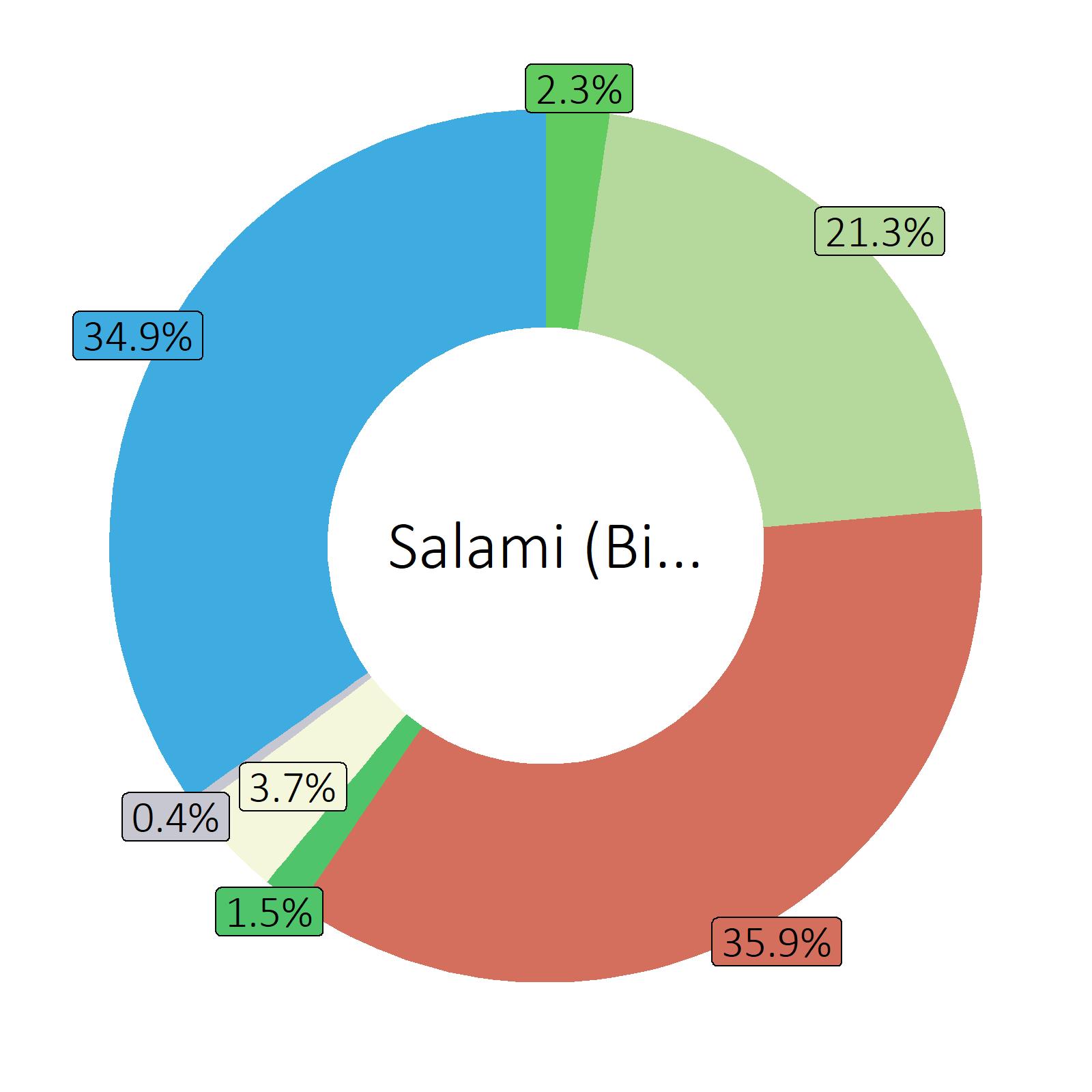 Bestandteile Salami (Billiglinie)