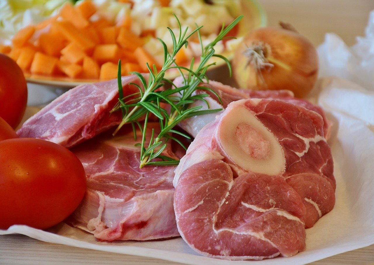Kalb, Haxe, geschmort (ohne Zugabe von Fett und Salz) Essen und Trinken Fleischwaren und Innereien